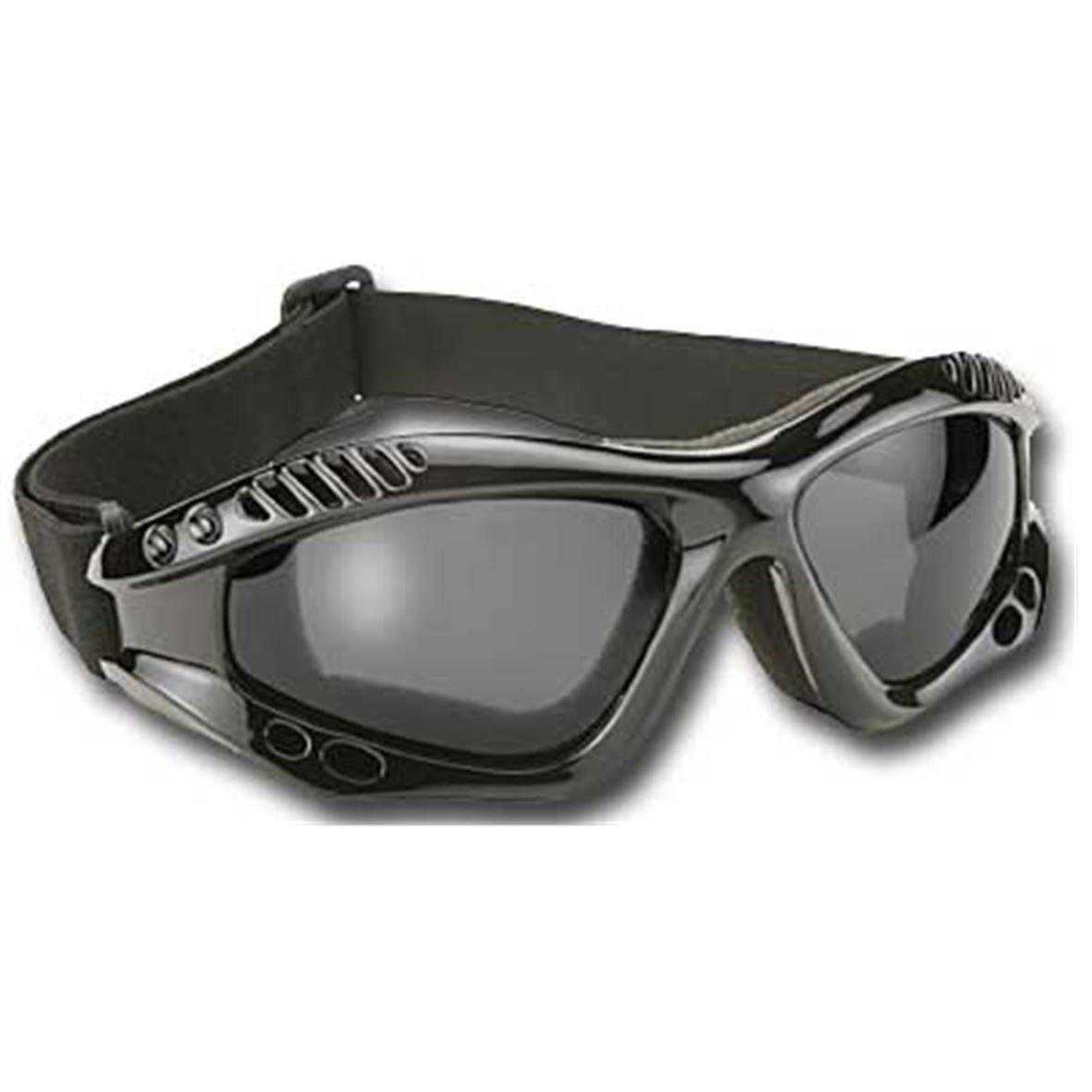 Kickstart Unisex-Adult Biker sunglasses Black Frame//Gray Lens One Size 4001