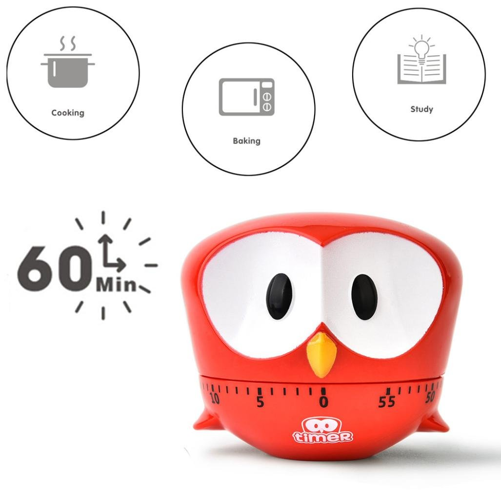 Compra TAOtTAO - Temporizador para Cocina, 60 Minutos, Diseño de águila, Rojo, 8 * 6.8cm en Amazon.es