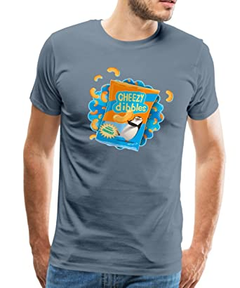 34fbde34 Spreadshirt DreamWorks Penguins Of Madagascar Cheezy Dibbles Men's Premium  T-Shirt, 5XL, Steel