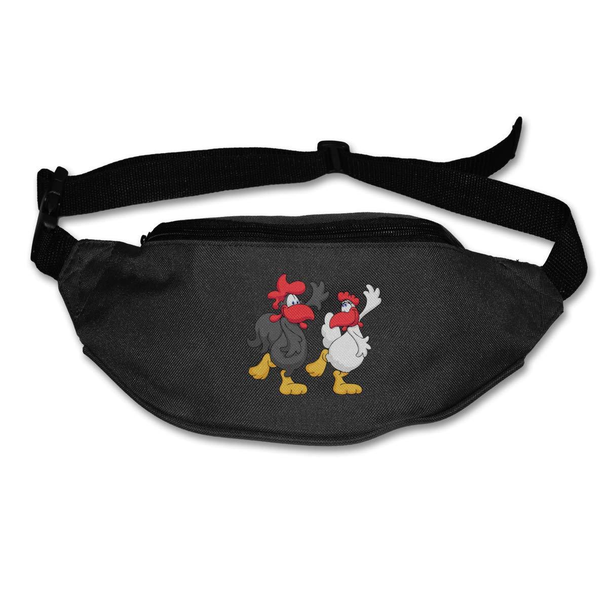 Dancing Hen Rooster Sport Waist Bag Fanny Pack Adjustable For Run