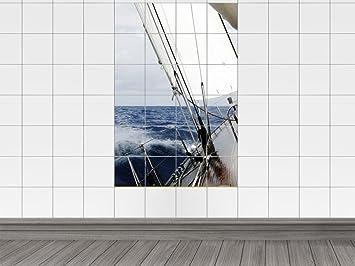 Piastrelle adesivo piastrelle immagine barca a vela sul mare bagno