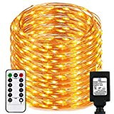 Dimable Led String Lights Plug In with Remote&Timer, RcStarry(TM) New Version 333Ft/100M 1000 Leds Copper Wire String Lights, Warm White, UL Listed, Ideal for Bedroom, Parties, Wedding, Christmas,etc.