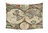 asddcdfdd Old World Globe Map Antique Ancient Historical America Africa Europe Pattern Unique Decor Digital Printed Tapestry Wall Hanging Living Room Bedroom Dorm Decor Beige Green Gray Orange