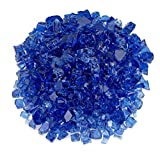 American Fireglass 1/2'' Cobalt Blue Fire Glass, 55 lb. Bag