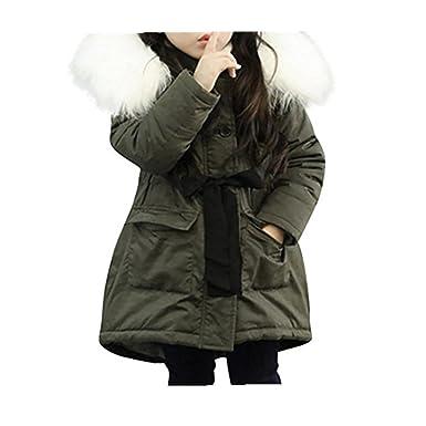 Koly Bebé Unisexo Moda Encapuchado Chaqueta Abajo Otoño Invierno Cremallera Bolsillo Espesor Abrigos para Niñas Coat