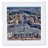 3dRose Danita Delimont - Cities - Vatican City, Italy, St. Peters Square - 14x14 inch quilt square (qs_277597_5)