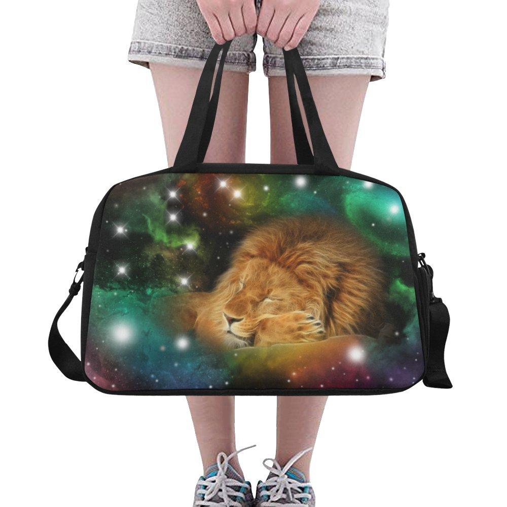 InterestPrint Zodiac Leo Galaxy Lion Duffel Bag Travel Tote Bag Handbag Luggage by InterestPrint (Image #5)