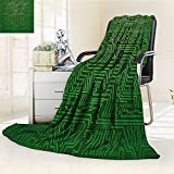 AmaPark Digital Printing Blanket Computer Art Backdrop with Circuit Board Diagram Hardware Wire Summer Quilt Comforter