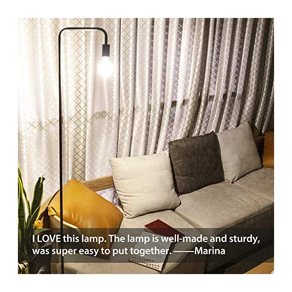 Addlon Floor Lamp with  E26 Socket - Tall Lamp for Living Room & Office - ✅【SATISFACTION WARRANTY】 3-year warranty !Your satisfaction is first. If you are not fully satisfied for any reason, please contact us. ✅【STURDY AND SAFE USE】: The well weighted, high-stability base prevent being tipped over by anyone includes the aged, child, pets. ✅【Creat Your Own Style】The Industrial floor lamp built-in e26 socket allows you to customize your stylish lamps with different shapes of light bulbs.(Bulbs are sold separately) - living-room-decor, living-room, floor-lamps - 61pCZdVRpgL. SS570  -