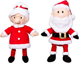 92bef7c96e50 Teddy Mountain NY Christmas Mr and Mrs. Santa Claus 16 inch Plush Stuffed  Ready to