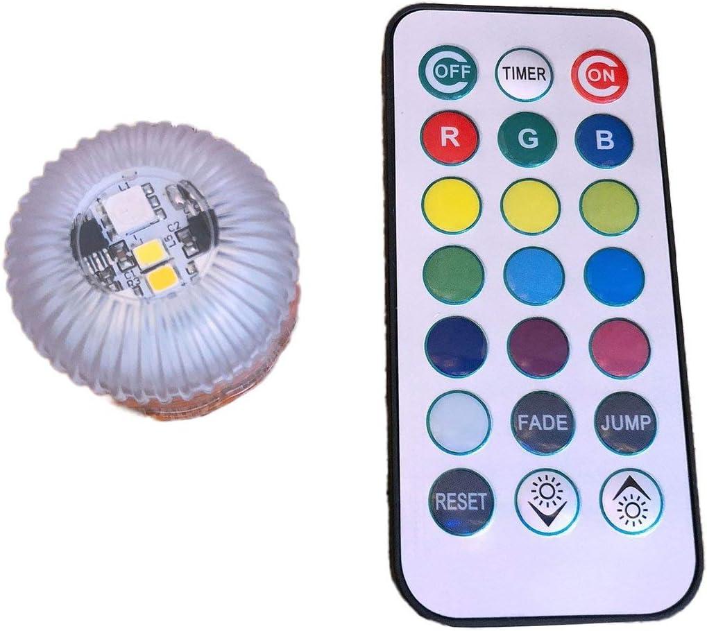 Candela a LED RGB con 12 Colori Senza Fiamma Impermeabile per la Decorazione di Matrimoni per Feste da Bagno in Vaso