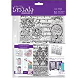 docrafts DCE907106 Creativity Essentials A5 Background Stamp, Musicality, Clear