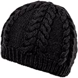 Nirvanna Designs CH413 Soft Wool Cable Beanie with Fleece