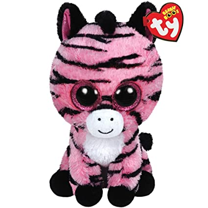 1d0c882ee92 Image Unavailable. Image not available for. Color  Ty Beanie Boos Zoey The Pink  Zebra Plush