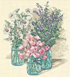 Simplicity Vintage Dimensions 'Wildflower Trio' Counted Cross Stitch Kit, 14 Count Ivory Aida, 11' x 12'