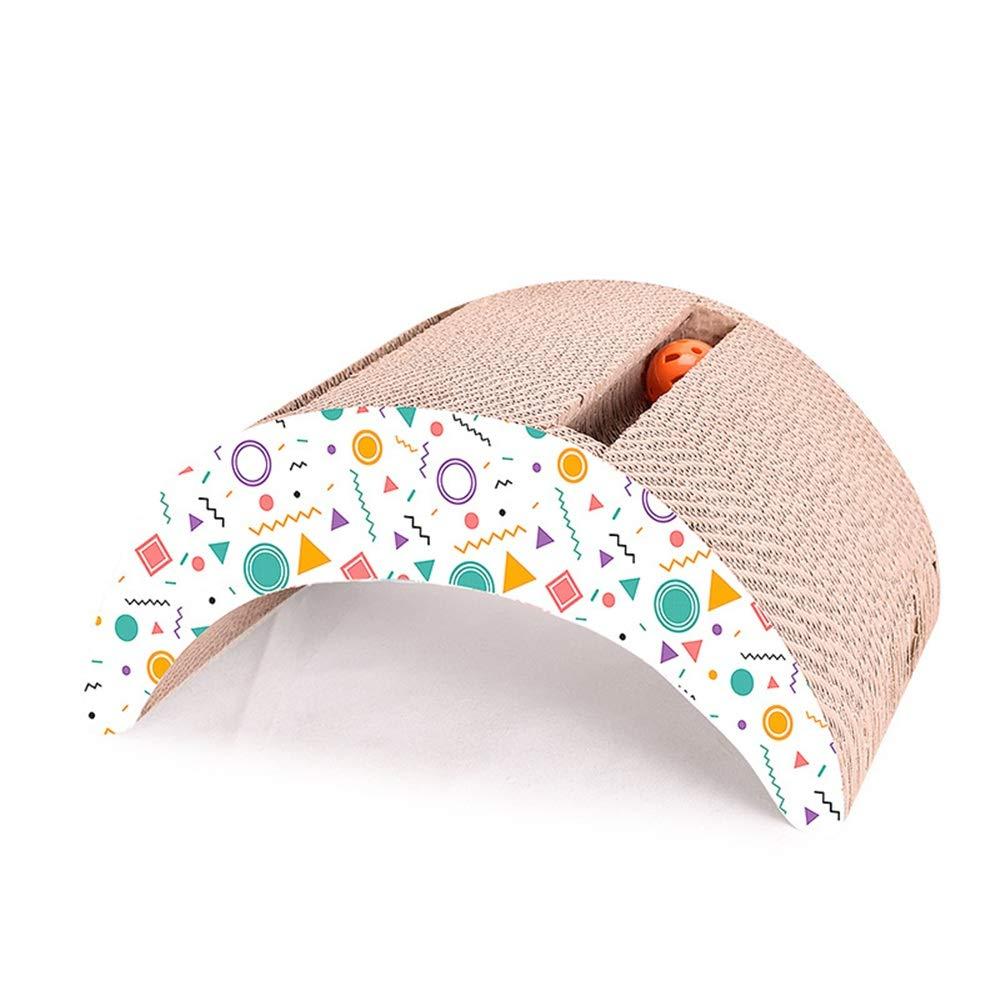 Cat Scratch Board Bordo di graffio del gatto di carta ondulato del ponte dell'attrezzatura della palla dell'orologio del tunnel dell'animale domestico del giocattolo. Regalo di Natale Cat Scratcher fo