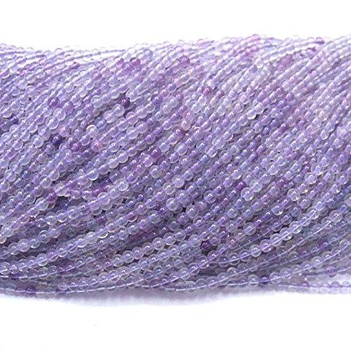 - jennysun2010Natural Purple Fluorite Gemstone 3mm SmoothRoundLooseBeads Length15.5''Inches(38.5cm)1StrandperBagforBraceletNecklaceEarringsJewelryMakingCraftsDesignHealing