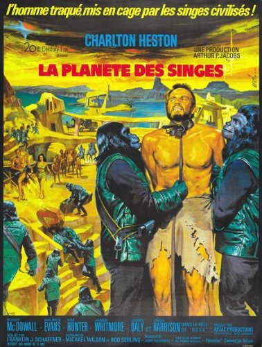 Hunter Roddy (Planet of the Apes Poster Movie French 11x17 Charlton Heston Roddy McDowall Kim Hunter Maurice Evans)