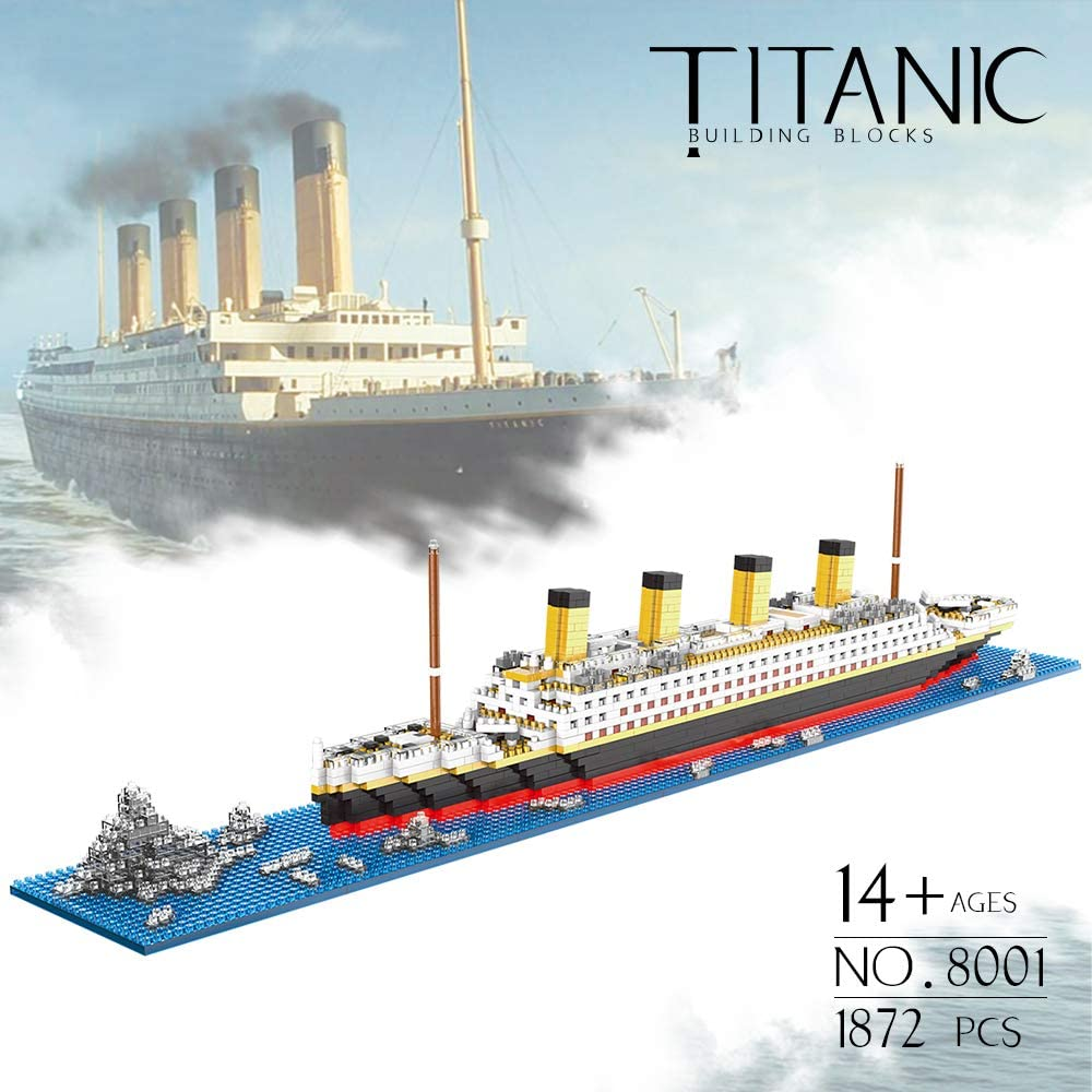 Titanic Toys Building Set Model Kit for Adults and Kids Micro Building Blocks 1872 pcs with Color Package