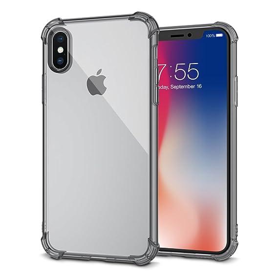 super cute 040ca 5c107 Amazon.com: iPhone X Case, Qiker Flexible iPhone X Clear Case [Shock ...