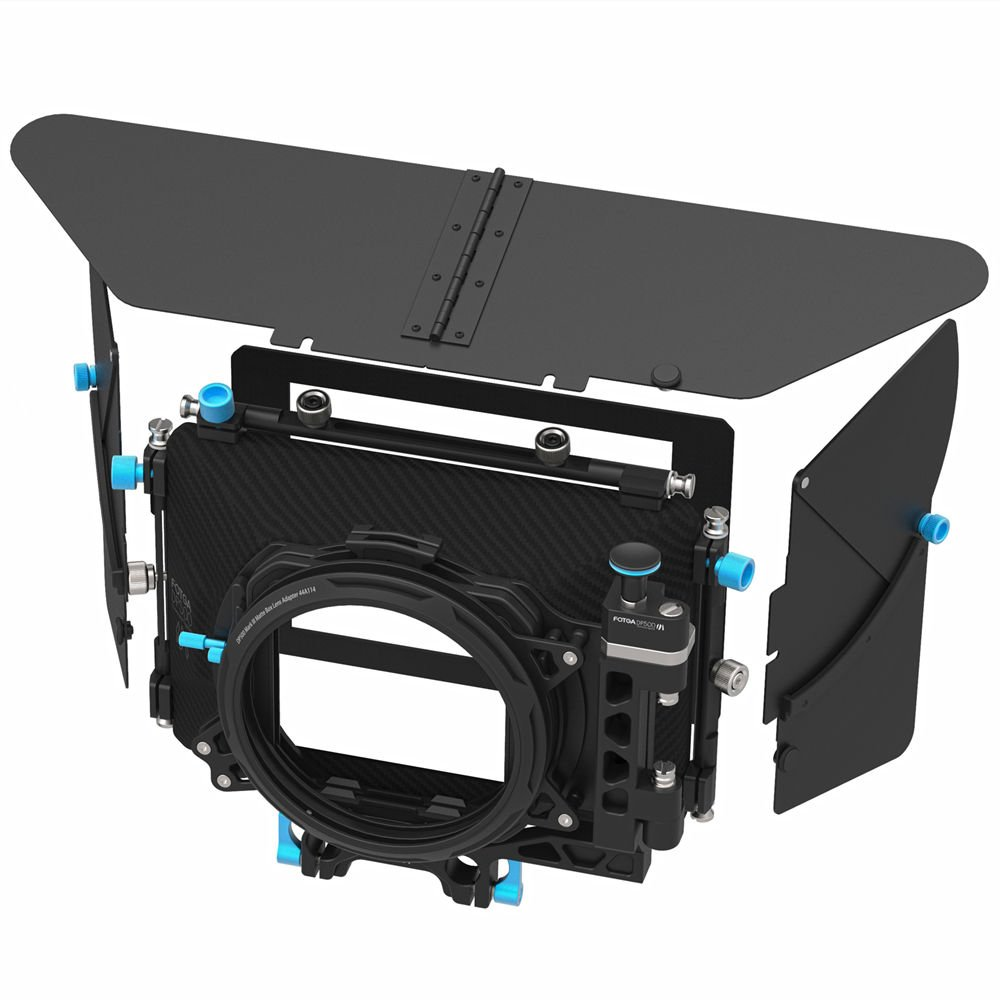 FocusFoto FOTGA DP500 Mark III Professional Metal DSLR Swing-away Matte Box Sunshade with Filter Trays for 15mm Rail Rod Rig System 5D2 5D3 A9 A7 A7R A7S II D850 GH4 GH5 BMPCC BMCC Cine Video Camera by FocusFoto (Image #2)