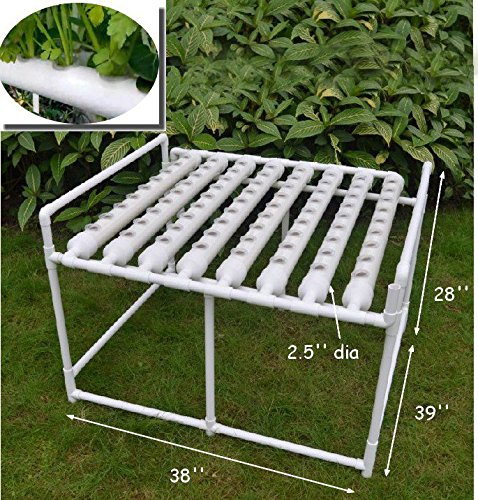 61pCd0SX%2BTL - Hydroponic Site Grow Kit 72 Site Ebb and Flow Deep Water Culture Garden System with Nest Basket, Water Pump and Sponge(Item#141053)
