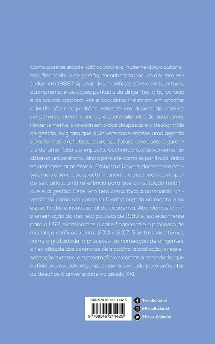 Os Desafios da Autonomia Universitária: História Recente da ...