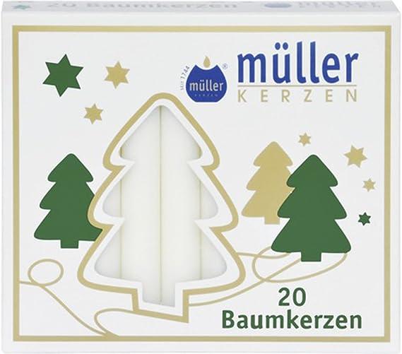Longueur : 125 mm Couleur naturelle JEKA Lot de 5 paquets de 12 bougies pour arbre Diam/ètre : 15 mm