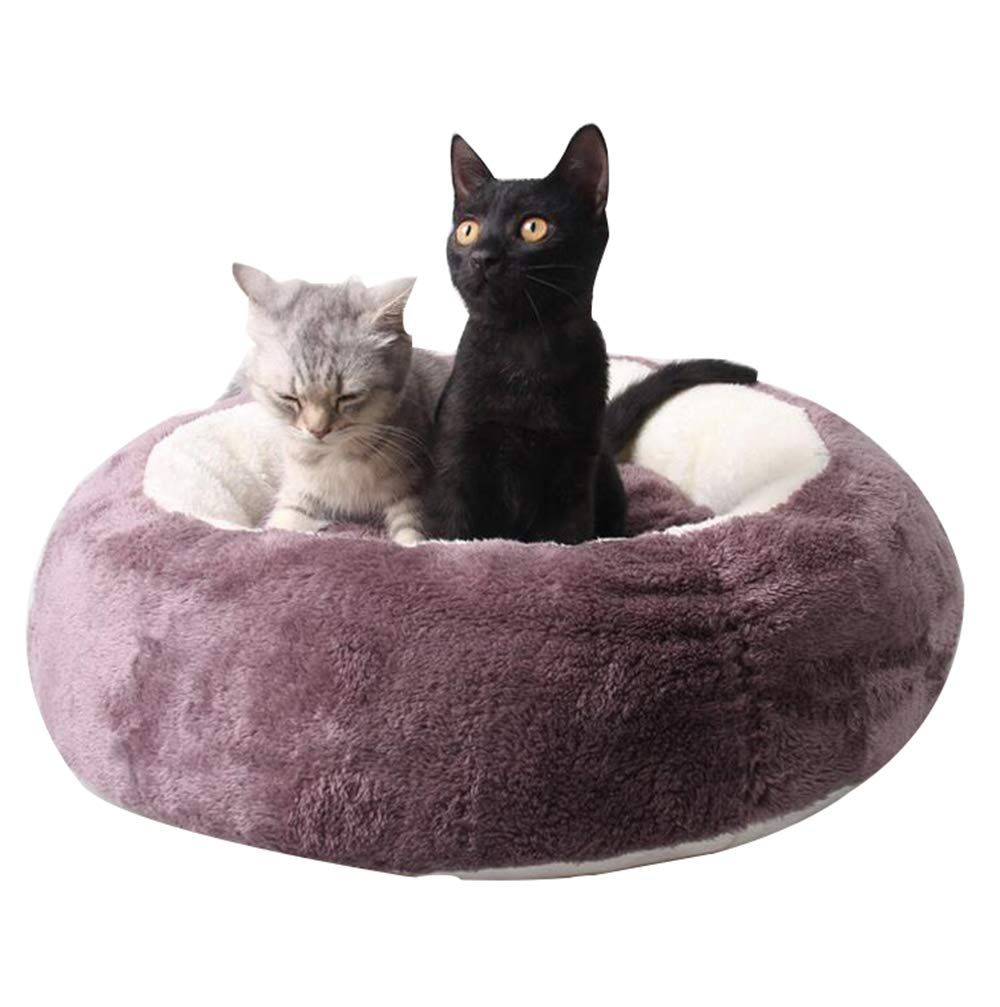 Purple Pet cat Litter Four Seasons Available Round Pouches kennels Washable cat Litter Kennel Cat roof mats
