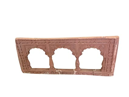 Amazon Com Antique Red Stone Arch Frame Hand Carved Decorative