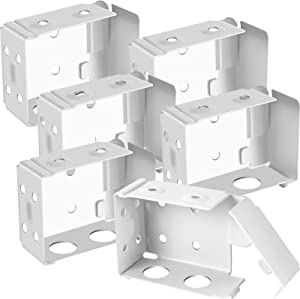Hotop Blind Brackets Low Profile Box Mounting Bracket for Window Blinds, White (6)