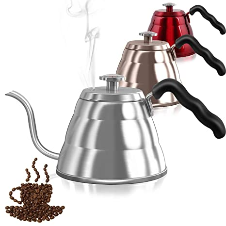 Amazon.com: Dealz Frenzy Gooseneck - Tetera de café con ...