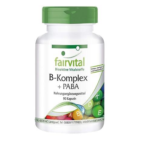 Vitamina B complex PABA - Áácido Para-Aminobenzoico - VEGANO - dosis alta - 90