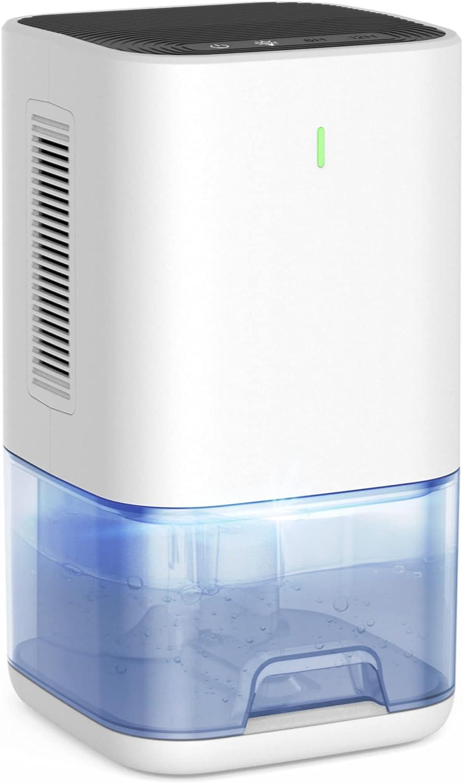 LEEL Dehumidifier, Upgraded 1200ml (42oz) 6H/12H Timer Small Dehumidifier for 2300 Cubic Feet (270 sq ft) Home Basement Bedroom Bathroom Closet RV Camper