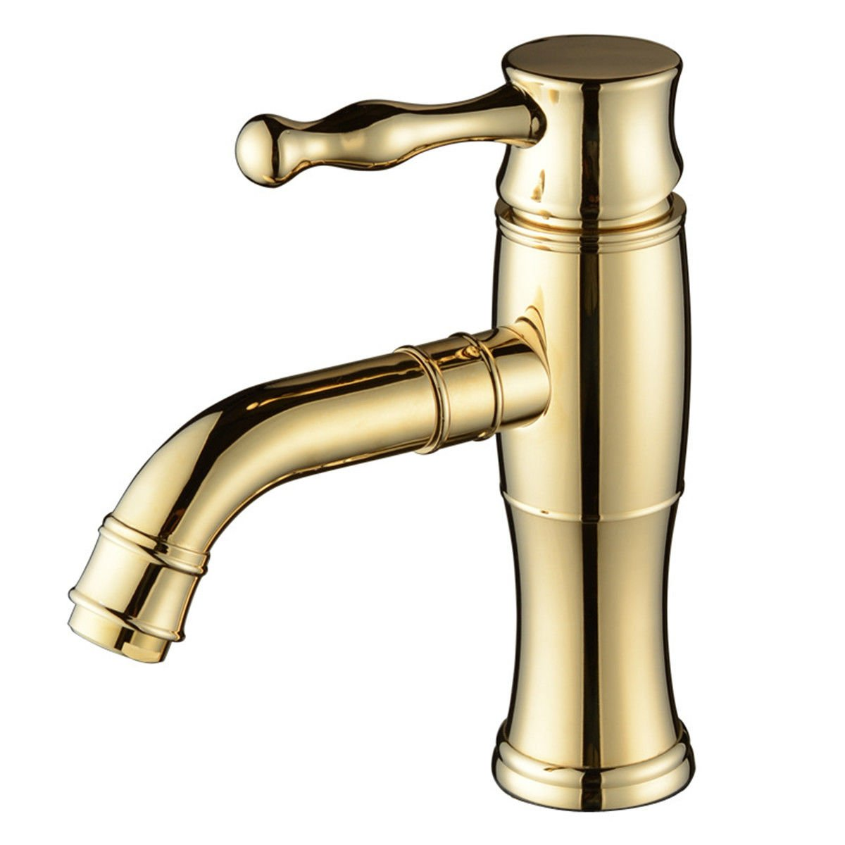 ANNTYE Waschtischarmatur Bad Mischbatterie Badarmatur Waschbecken Gold einzelne Hebel Badezimmer Waschtischmischer