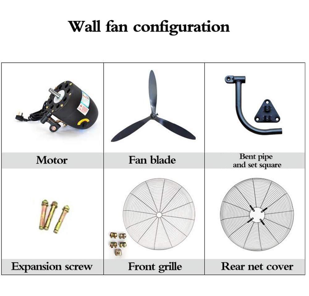78cm // 31po 68cm // 26po Ventilateur Mural oscillant 58cm // 68po Inclinaison r/églable Deevin Ventilateur Mural Industriel avec t/él/écommande Haute v/élocit/é//Noir//Usage intensif