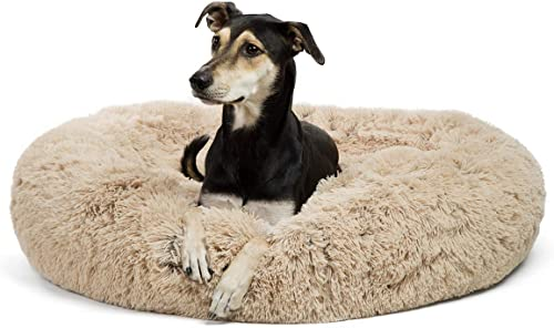 Best Donut Dog Bed: Best Friends by Sheri The Original Calming Shag Vegan Fur Donut Cuddler