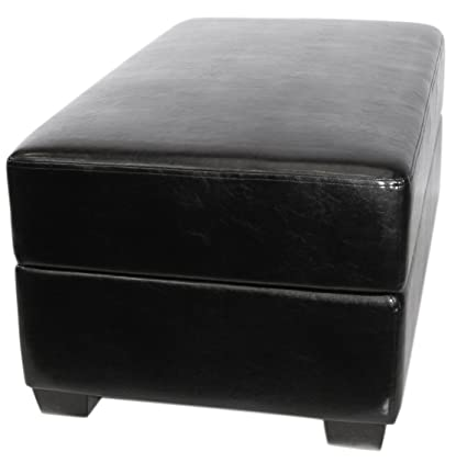 AK Rock Box Gaming And Storage Ottoman With Drum Lift (Black)