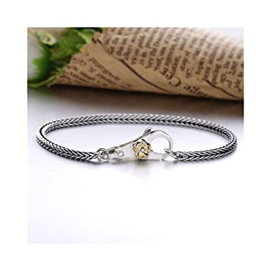 6f544dd9e6de6 Amazon.com: Charm Bangle Inspirational Jewelry Vintage Style 925 ...