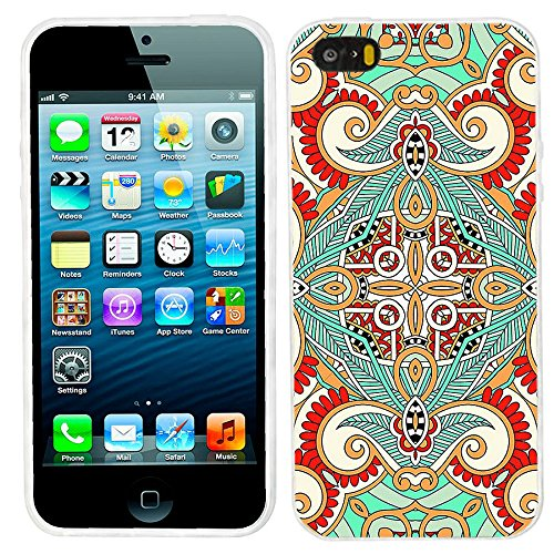 Silicone Soft TPU Floral Pattern Case for iPhone 5C (Green) - 9