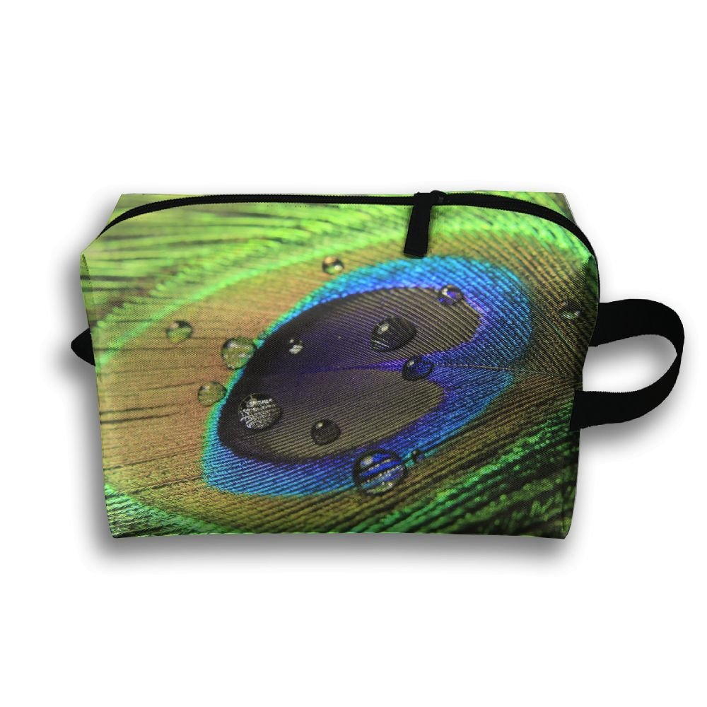 Free Shipping Michgton Cosmetic Bag Beautiful Peacock Feathers Adult