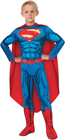 Deluxe Superman - DC Comics - Niños Disfraz: Amazon.es ...