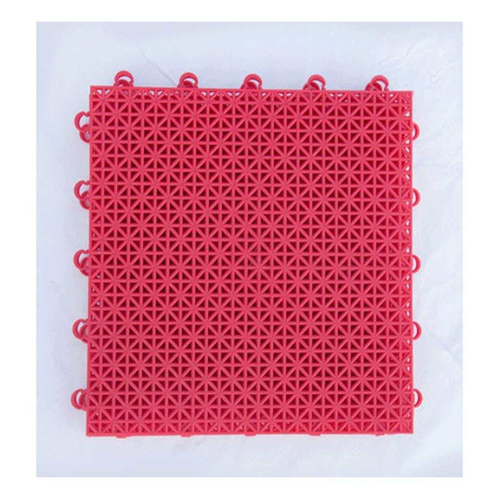 rouge Soft1  Tapis De Jeu De Verrouillage Tapis De Sport En Plastique Tapis De Puzzle Tapis En PVC Convient Aux Balcons De Basket-ball Jardin Campus Piste MultiCouleure Taille (25  25  1.3cm)
