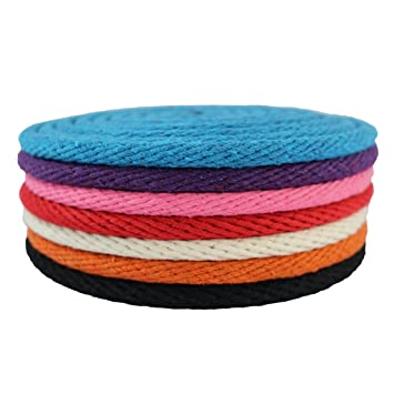 Amazon com: Solid Braid Cotton Rope (3/8 inch) - SGT KNOTS