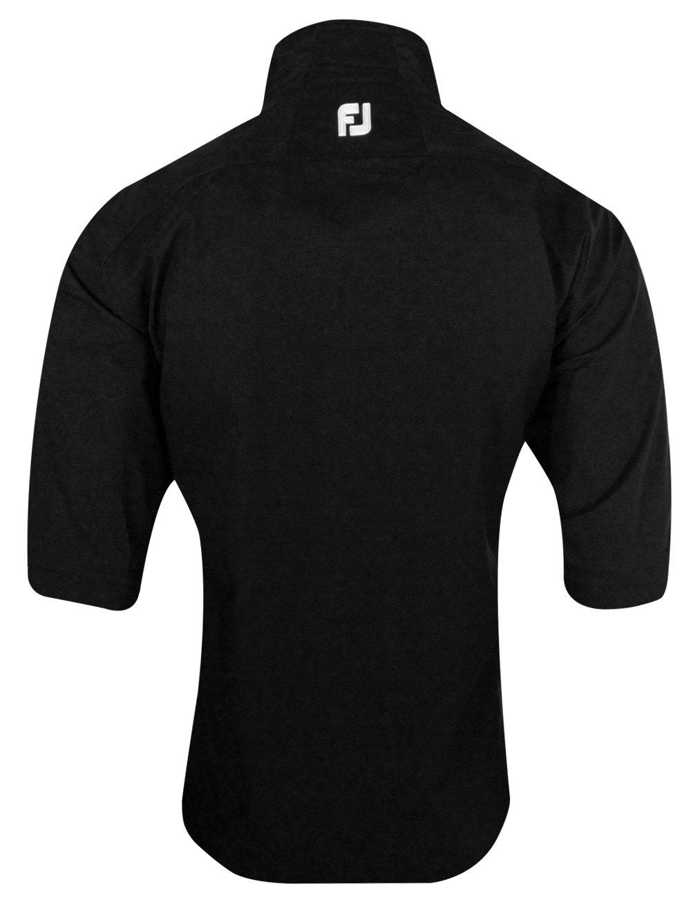 FootJoy DryJoys Hydrolite Short Sleeve Rain Shirt (Black, Medium)