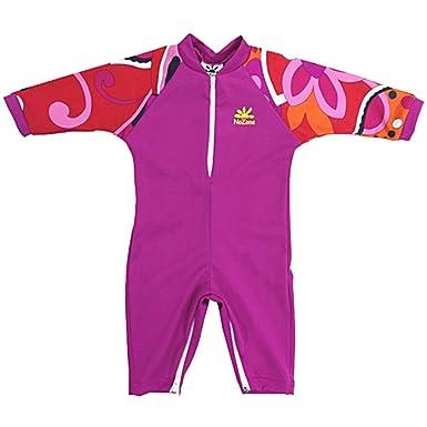 Baby Swim 6 Months Fiji Sun Protective UPF 50+ Baby Swimsuit by Nozone in Fuchsia/Brandie, 0-6 months