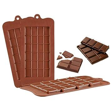 Forepin Molde de chocolate separado de silicona, Moldes de proteína para hornear de hielo de grado alimenticio para hornear, 3 paquetes: Amazon.es: Hogar