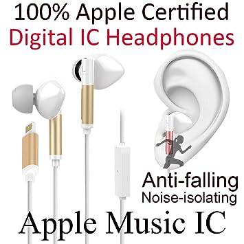 Auriculares para iPhone 5 6 7 puerto de carga conexión – Cable Lightning connector- Apple