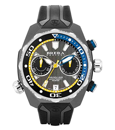 Gris / negro Pro Diver Relojes de Brera Orologi: Amazon.es: Zapatos y complementos