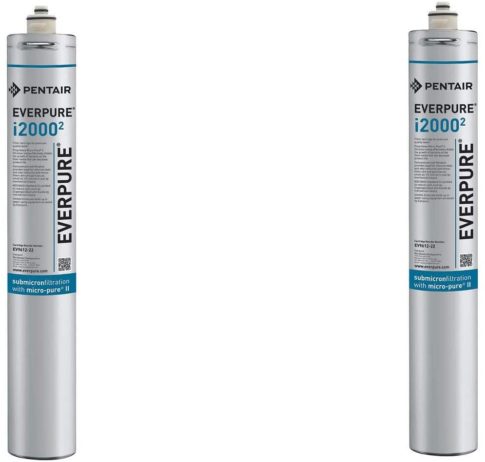 Package Of 4 Everpure Insurice I2000-2 Replacement Water Filters EV9612-22